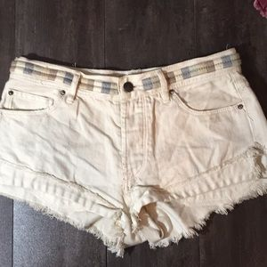 Free People frayed hem cutoff shorts sz 25